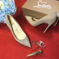 Sale Christian Louboutin CL 100mm Patent Leather High Heels W08