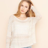 Eyelet Lace Sweater