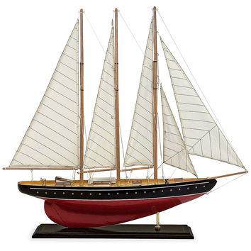 "30"" Sailboat Figurine, Red, Models"