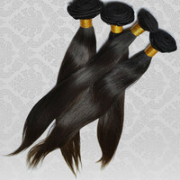 100% RAW Unprocessed Indian Natural Straight Virgin Remy Human Hair Extensions