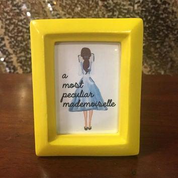 A Most Peculiar Mademoiselle - Nerdy Desk Decor - Cubicle Decor - Desk Accessories - Nerd Art - Geek Decor - Office Art