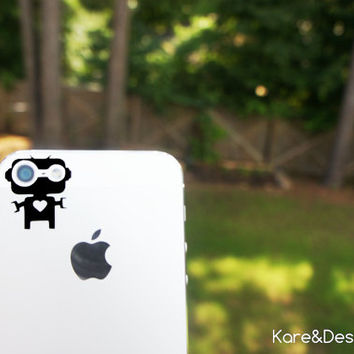 Mr. Robot Senior -- iPhone 5 vinyl decal for camera eyes -- Available in BLACK or WHITE