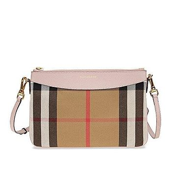 Burberry Women's House Check and Clutch Bag Pale Orchid