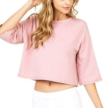Kelsey Crop Sweatshirt Top