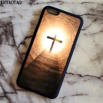 KETAOTAO Bible Jesus Christ Christian Cross Phone Cases for iPhone 4S 5C 5S 6 6S 7 8 X for Samsung Case Soft TPU Rubber Silicone