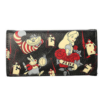 Disney Alice In Wonderland Character Flap Wallet