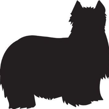 Yorkshire Terrier Silhouette Dog Puppy Breed Long Die Cut Vinyl Transfer Decal Sticker