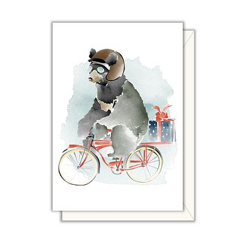 Bicycle Bear Enclosure Card