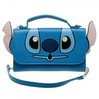 Disney Lilo and Stitch Inside Out Crossbody Wallet Clutch
