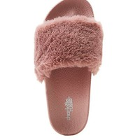 Faux Fur Slide Sandals | Charlotte Russe
