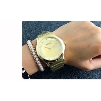 GUCCI classic men and women fashion watch F-Fushida-8899   Gold