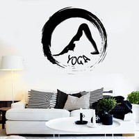 Wall Stickers Vinyl Decal Yoga Sport Fitness Zen Meditation Decor  (z2096)
