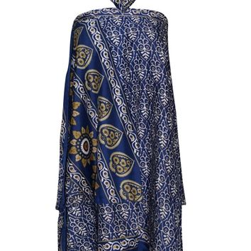 Mogul Wrap Skirt PREMIUM Silk Sari Reversible Skirt Purple Multi Wear Dress ... ... ... ...