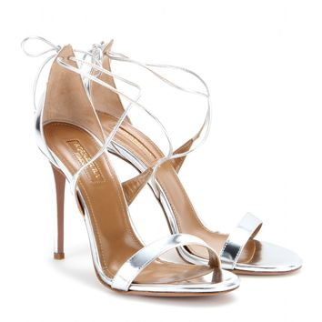 Linda metallic leather sandals