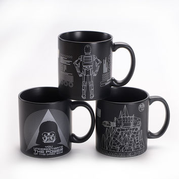 Star Wars Ceramic Mug Large Capacity 520ml Black White Creative Fashion Household Water Breakfirst Milk Cup Office Coffee Mug