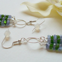 Tanzanite and Chrome Diopside Earrings
