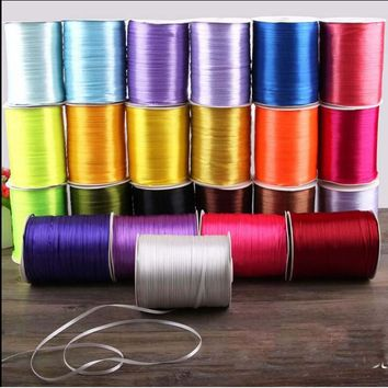 """1/8"""" 3mm 25 Yards Cheap Satin Ribbon For Arts Crafts & Sewing Christmas Wedding Party Decoration Gift Wrap Handmade DIY Material"""