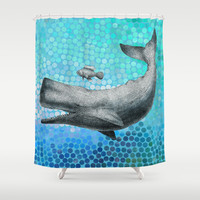 New Friends 3 by Eric Fan and Garima Dhawan Shower Curtain by Eric Fan