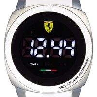 Men's Scuderia Ferrari 'Aero Touch' Digital Silicone Strap Watch, 46mm