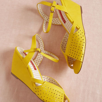 B.A.I.T. Footwear City and Estate Wedge in Yellow