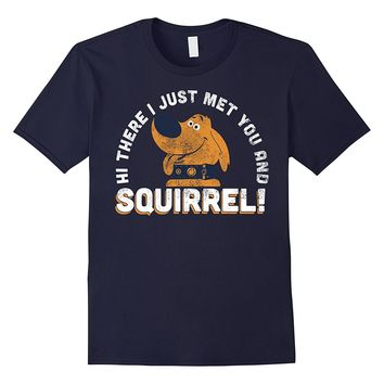 Disney Pixar UP Dug Just Met and SQUIRREL! Graphic T-Shirt