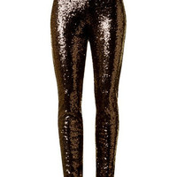 Sequin Leggings, Bronze (Size S)