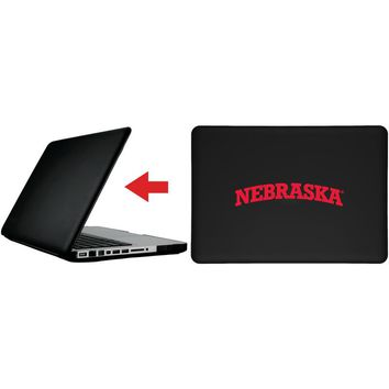 """Nebraska Curved Wordmark design on MacBook Pro 13"""" with Retina Display Customizable Personalized Case by iPearl"""