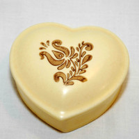 Vintage Pfaltzgraff Village Heart Trinket Box, Gift Idea, Heart Shaped Trinket Box, Village Pattern, Valentine's Day, Christmas Gift