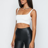 I Like Me Better Faux Leather Biker Shorts