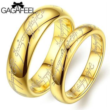 Fashion Women Man Luxury Vintage European Noble Jewelry Tungsten Carbide Gold Plated Magic Ring High Quality Lover Gifts Or14