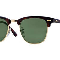 RAY BAN 0RB3016 Clubmaster Unisex Authentic Sunglasses Tortoise/Green