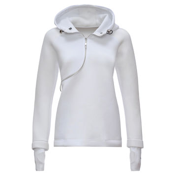 D.I.W.O.® CURVE BREATHABLE SWEATSHIRT- White