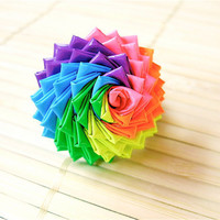 Neon Rainbow Duct Tape Rose Ring  Colorful Duck by QuietMischief