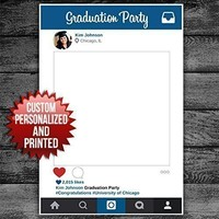 Selfie Frame Social Media Frame Photo Booth Prop, Graduation, Wedding, Birthday Photo Prop - Customized POSTER Cutout