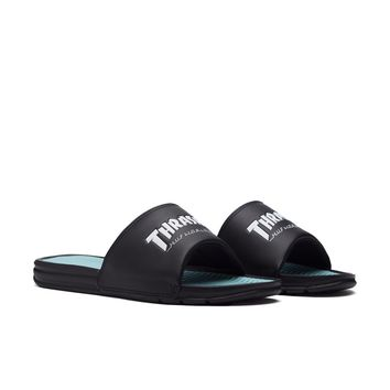 20ad0885a6ea HUF - HUF X THRASHER SLIDE    BLACK MINT from HUF
