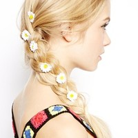 ASOS Pack of 10 Daisy Flower Grips