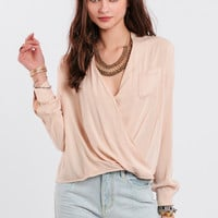 Taking Time Draped Blouse