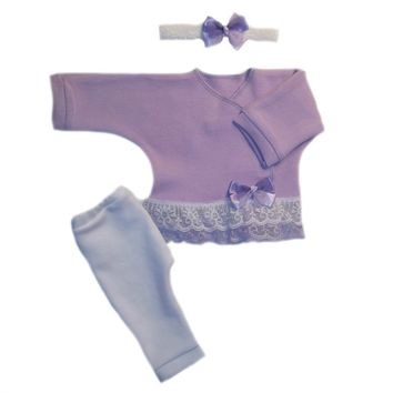Baby Girls' Sweet Lavender Clothing Outfit