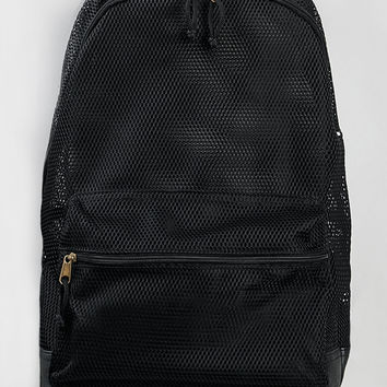 Black Mesh Backpack - Topman