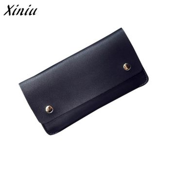 Xiniu Simple Women Leather Wallet Day Clutch Card Holder Purse Zero Wallet Phone Key Bag Handbag carteira feminina monedero