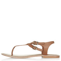 HARBOUR Toe Post Sandals - Tan