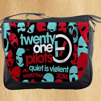 twenty one pilots personalized messenger bag