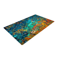 "Ebi Emporium ""Eteranl Tide II"" Teal Orange Woven Area Rug"