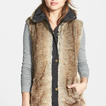 Women's Ellen Tracy Faux Fur Vest (Online Only)