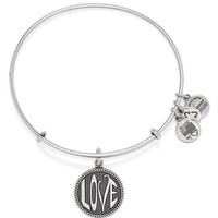 Women's Alex and Ani 'Open Love' Expandable Wire Bangle