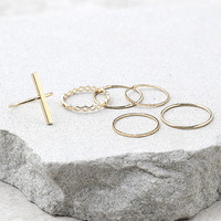 Modern Elegance Gold Ring Set