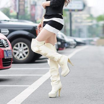 ESBONG Hot Deal On Sale Shoes Floral High Heel Boots [9432961098]