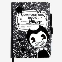 Bendy And The Ink Machine Composition Notebook & Pen