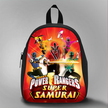 Power Ranger Super Samurai Red, School Bag Kids, Large Size, Medium Size, Small Size, Red, White, Deep Sky Blue, Black, Light Salmon Color