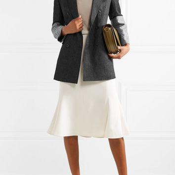 Max Mara - Double-breasted paneled linen blazer